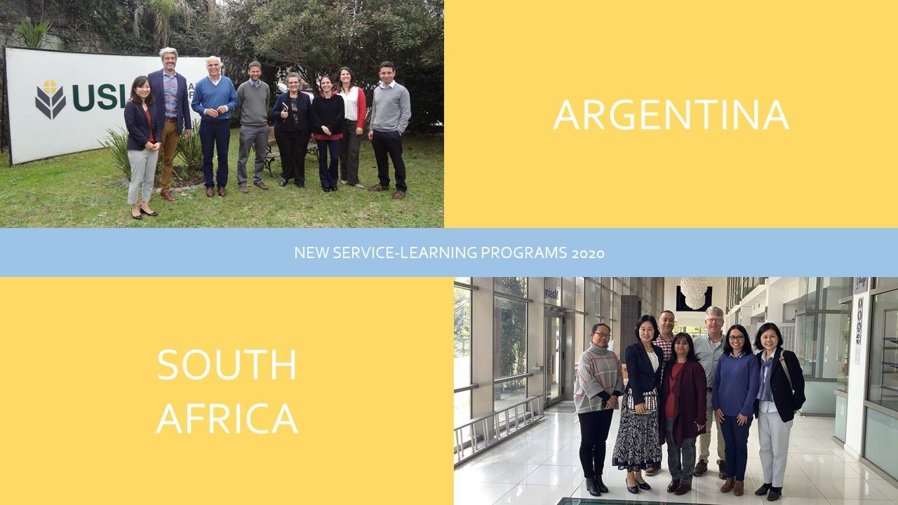 New SL programs in Argentina and South Africa from Summer 2020